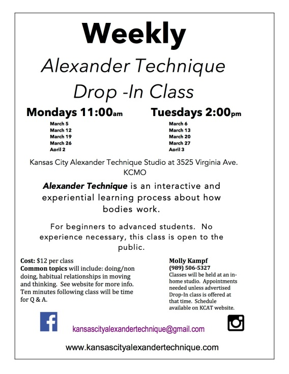 Drop In Class KCAT Flyer